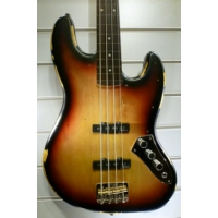 Vintage ICON V74MR Fretless Bass in Sunburst