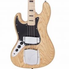 Vintage LVJ74 Reissued 70's 4-String Jazz Bass in Natural, Left-handed