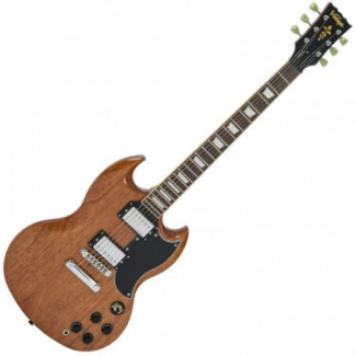 Vintage VS6M Reissued Electric Guitar in Natural Mahogany
