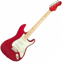 Vintage V6 John Verity Signature Electric Guitar, Candy Apple Red