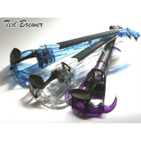 Ted Brewer Vivo 2 Electric Violin In Purple with Carbon Bow & Oblong Case