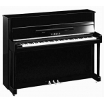 Yamaha B2 Upright Piano in Polished Ebony with Chrome Fittings (B2EPEC)