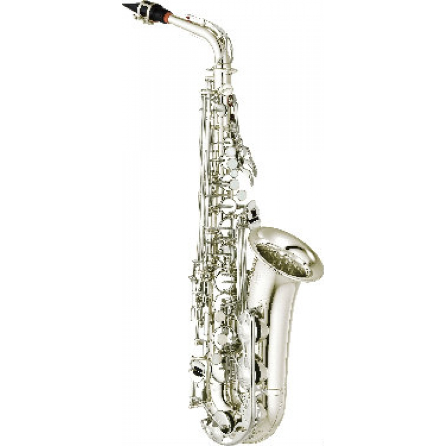 Yamaha yas280s alto saxophone in silver plate with for Yamaha saxophone mouthpiece chart