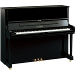 Yamaha YUS1 SH Silent Upright Piano in Polished Ebony