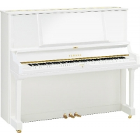 Yamaha YUS5 Upright Piano in Polished White