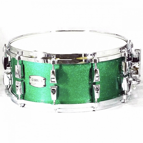 "Yamaha 14"" x 6"" Absolute Hybrid Snare in Jade Green Sparkle"