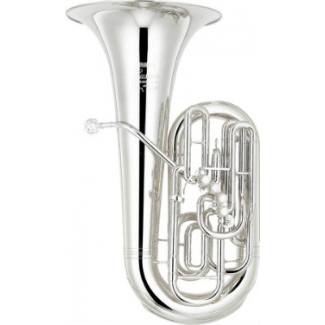 Yamaha YFB822S 5 Valve F Tuba In Silver Plate With Case & Mouthpiece