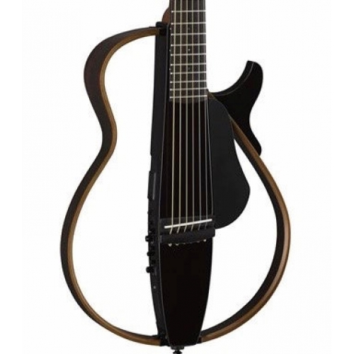 Yamaha SLG200S Steel String Silent Guitar In Translucent Black Finish