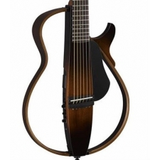 Yamaha SLG200S Steel String Silent Guitar in Tobacco Sunburst With Bag