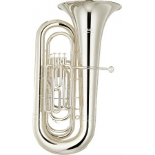 Yamaha YBB321S Bb Tuba In Silverplate with Case & Mouthpiece