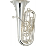 Yamaha YFB621S 5 Valve F Tuba in Silver Plate With Case & Mouthpiece