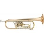 Yamaha YTR436G Bb Rotary Trumpet with Case & Mouthpiece