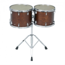 """Yamaha CT9010 10"""" Double Headed Concert Tom in Dark Wood Stain"""