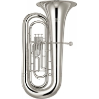 Yamaha YBB201S Bb Tuba, Silver Plated With Case & Mouthpiece