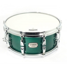 """Yamaha 14"""" x 6"""" Absolute Hybrid Snare in Jade Green Sparkle"""