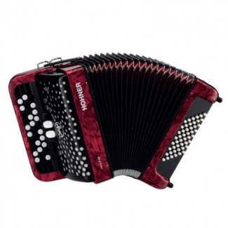 Hohner Nova II 3 Row 48 Bass Chromatic Accordion in Red, Secondhand