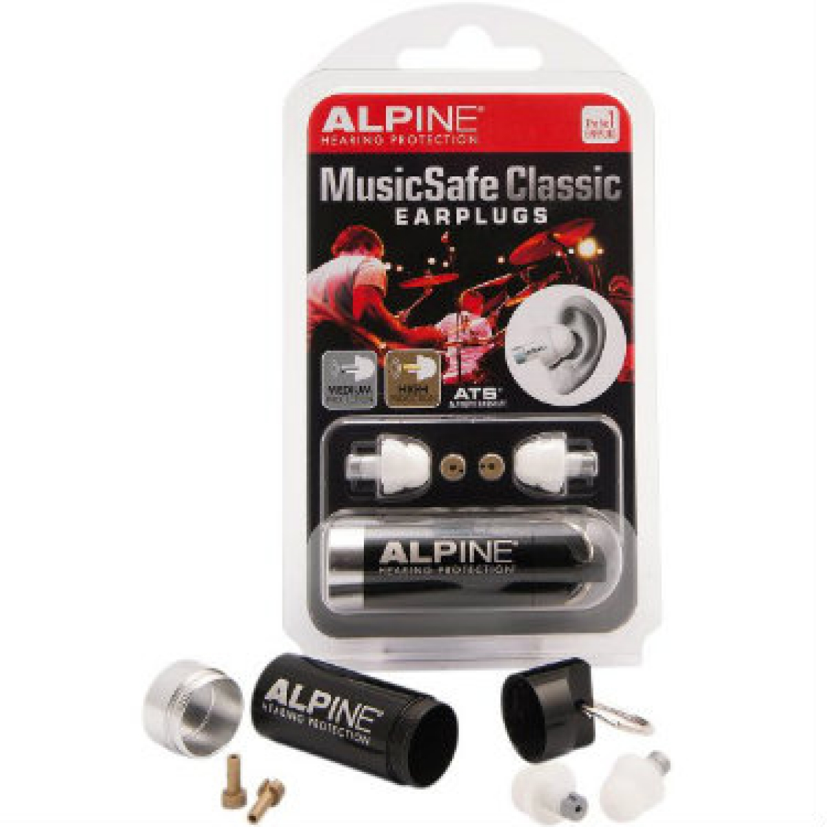 with Filters ALPINE MUSIC SAFE Professional Musicians Ear Plugs