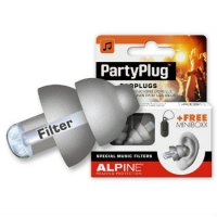 Alpine PartyPlug Ear Plugs in Silver - For Festival, Concert & Party-Goers