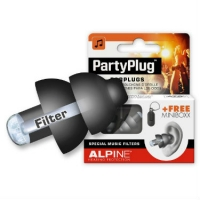Alpine PartyPlug Ear Plugs in Black - For Festival, Concert & Party-Goers