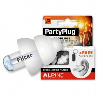 Alpine PartyPlug Ear Plugs in White - For Festival, Concert & Party-Goers