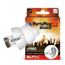 Alpine PartyPlug Pro Natural Ear Plugs - For Festival, Concert & Party-Goers