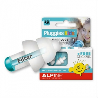 Alpine Pluggies Single Filter Ear Plugs - Hearing Protection For Kids