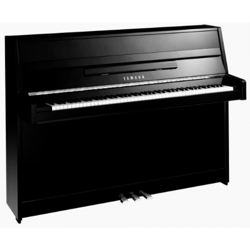 Yamaha b1 upright piano in polished black with chrome for Yamaha b1 piano price