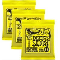 3 Sets of Ernie Ball 2627 Beefy Slinky Electric Guitar Strings 11-54