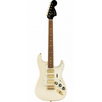 Fender Limited Edition Mahogany Blacktop Stratocaster HHH, Olympic White