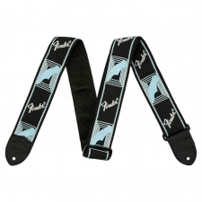 Fender Monogrammed Strap Black/Light Grey/Blue