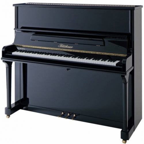 Bluthner Model B Upright Piano in Polished Black (Other Finishes Available)