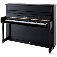 Bluthner Model C Upright Piano in Polished Black (Other Finishes Available)