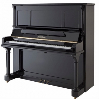 Bluthner Model S Upright Piano in Polished Black (Other Finishes Available)