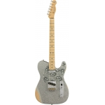 Fender Mexican Road Worn Limited Edition Brad Paisley Telecaster in Silver Sparkle