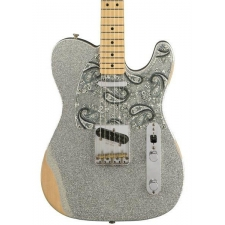 Fender Road Worn Limited Edition Brad Paisley Telecaster in Silver Sparkle