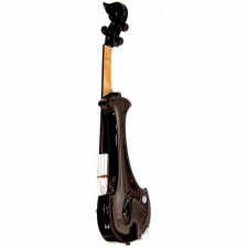 Bridge Aquila 4-String Electric Violin in Black with Hard Case & Carbon Bow