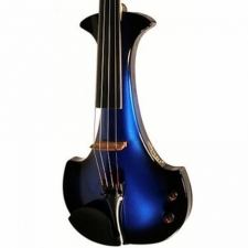 Bridge Aquila 4-String Electric Violin in Blue with Hard Case & Carbon Bow
