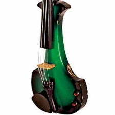 Bridge Aquila 4-String Electric Violin in Green with Hard Case & Carbon Bow