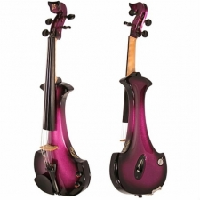 Bridge Aquila 4-String Electric Violin in Purple with Hard Case & Carbon Bow