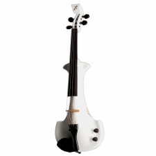 Bridge Aquila 4-String Electric Violin in White with Hard Case & Carbon Bow