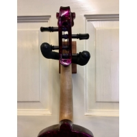 Bridge Aquila Custom Violin in Purple Marble with Case & Carbon Bow