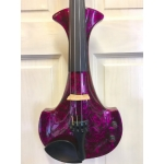 Bridge Aquila Custom Electric Violin in Purple Marble with Case & Carbon Bow