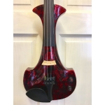 Bridge Aquila Custom Electric Violin in Red Marble with Case & Carbon Bow