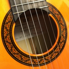 A. Burguet Model 2F Classical Flamenco Guitar Inc Case, Secondhand