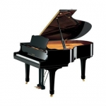 Yamaha C3M Grand Piano in Black Polyester