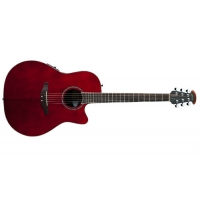 Ovation CC24S Electro Acoustic Guitar, Ruby Red, Secondhand