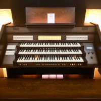 Celeste 340R Custom UK Spec Organ in Dark Antique Mahogany (CBM191)