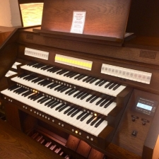 Content Celeste 340R Custom UK Spec Organ in Antique Mahogany (32RC)