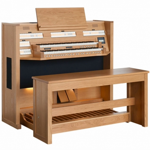 Content Cantate 246 Organ, 30 Note Radiating Concave Pedalboard & Bench
