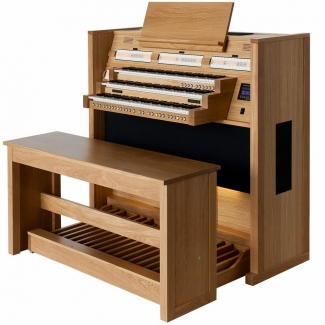Content Cantate 346 Organ, 30 Radiating Concave Pedalboard & Bench